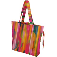 Background Abstract Colorful Drawstring Tote Bag by Nexatart