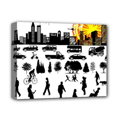 Good Morning, City Deluxe Canvas 14  X 11  by FunnyCow