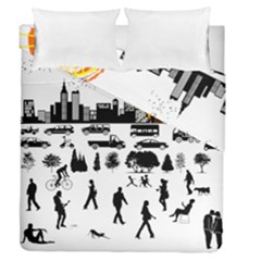 Good Morning, City Duvet Cover Double Side (queen Size) by FunnyCow