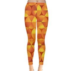 Background Triangle Circle Abstract Leggings