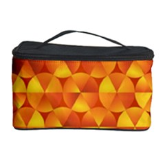 Background Triangle Circle Abstract Cosmetic Storage Case by Nexatart