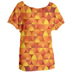 Background Triangle Circle Abstract Women s Oversized Tee