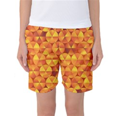 Background Triangle Circle Abstract Women s Basketball Shorts