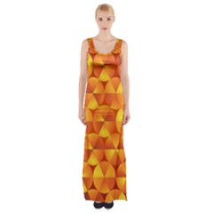 Background Triangle Circle Abstract Maxi Thigh Split Dress by Nexatart