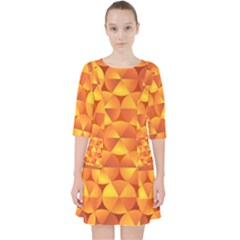 Background Triangle Circle Abstract Pocket Dress