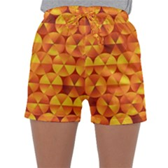 Background Triangle Circle Abstract Sleepwear Shorts
