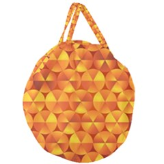 Background Triangle Circle Abstract Giant Round Zipper Tote