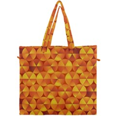 Background Triangle Circle Abstract Canvas Travel Bag by Nexatart