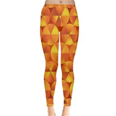 Background Triangle Circle Abstract Inside Out Leggings by Nexatart