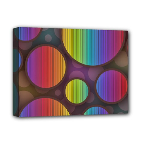 Background Colorful Abstract Circle Deluxe Canvas 16  X 12