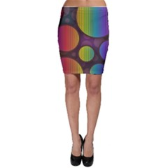 Background Colorful Abstract Circle Bodycon Skirt by Nexatart