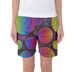Background Colorful Abstract Circle Women s Basketball Shorts by Nexatart