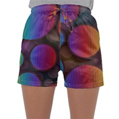 Background Colorful Abstract Circle Sleepwear Shorts