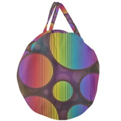 Background Colorful Abstract Circle Giant Round Zipper Tote