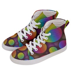 Background Colorful Abstract Circle Men s Hi Top Skate Sneakers by Nexatart