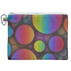 Background Colorful Abstract Circle Canvas Cosmetic Bag (xxl) by Nexatart