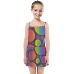 Background Colorful Abstract Circle Kids Summer Sun Dress by Nexatart