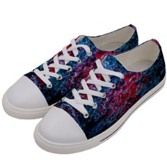 Water Color Red Women s Low Top Canvas Sneakers by FunnyCow