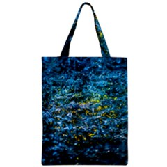 Water Color Yellow Zipper Classic Tote Bag by FunnyCow