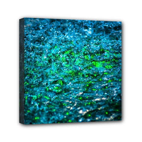 Water Color Green Mini Canvas 6  X 6  by FunnyCow
