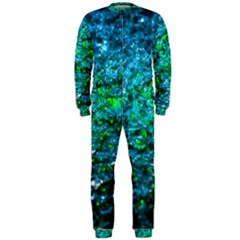 Water Color Green Onepiece Jumpsuit (men)  by FunnyCow