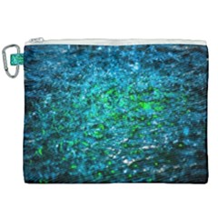 Water Color Green Canvas Cosmetic Bag (xxl) by FunnyCow