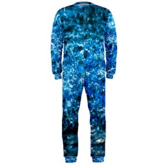 Water Color Blue Onepiece Jumpsuit (men)  by FunnyCow