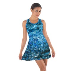 Water Color Blue Cotton Racerback Dress by FunnyCow