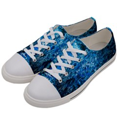 Water Color Blue Women s Low Top Canvas Sneakers by FunnyCow