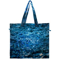 Water Color Blue Canvas Travel Bag by FunnyCow