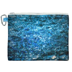 Water Color Blue Canvas Cosmetic Bag (xxl) by FunnyCow