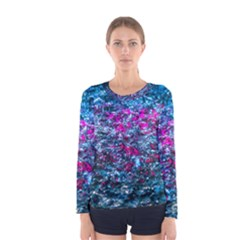 Water Color Violet Women s Long Sleeve Tee by FunnyCow