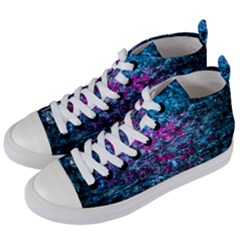 Water Color Violet Women s Mid Top Canvas Sneakers by FunnyCow
