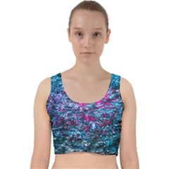 Water Color Violet Velvet Racer Back Crop Top by FunnyCow