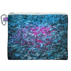 Water Color Violet Canvas Cosmetic Bag (xxl) by FunnyCow