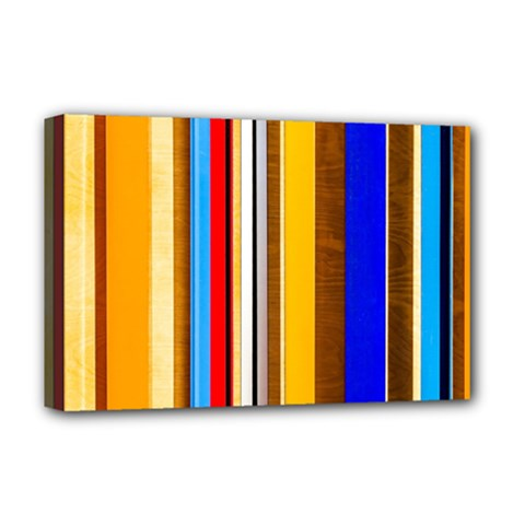 Colorful Stripes Deluxe Canvas 18  X 12   by FunnyCow