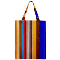 Colorful Stripes Zipper Classic Tote Bag by FunnyCow