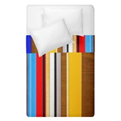 Colorful Stripes Duvet Cover Double Side (single Size) by FunnyCow