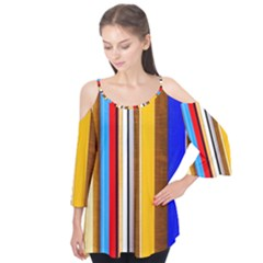 Colorful Stripes Flutter Tees by FunnyCow