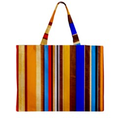 Colorful Stripes Zipper Medium Tote Bag by FunnyCow