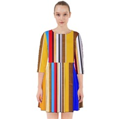 Colorful Stripes Smock Dress by FunnyCow
