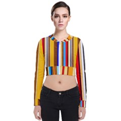 Colorful Stripes Bomber Jacket by FunnyCow