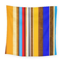 Colorful Stripes Square Tapestry (large) by FunnyCow