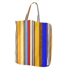 Colorful Stripes Giant Grocery Tote by FunnyCow