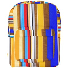 Colorful Stripes Full Print Backpack by FunnyCow