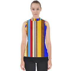 Colorful Stripes Shell Top by FunnyCow