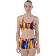 Colorful Stripes Women s Sports Set by FunnyCow