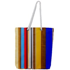 Colorful Stripes Full Print Rope Handle Tote (large) by FunnyCow