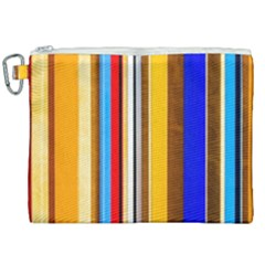 Colorful Stripes Canvas Cosmetic Bag (xxl) by FunnyCow