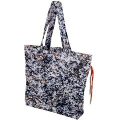 Granite Hard Rock Texture Drawstring Tote Bag by FunnyCow